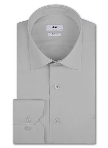 IGS Erkek A.Grı Slım Fıt / Dar Kalıp Std Gömlek Gri